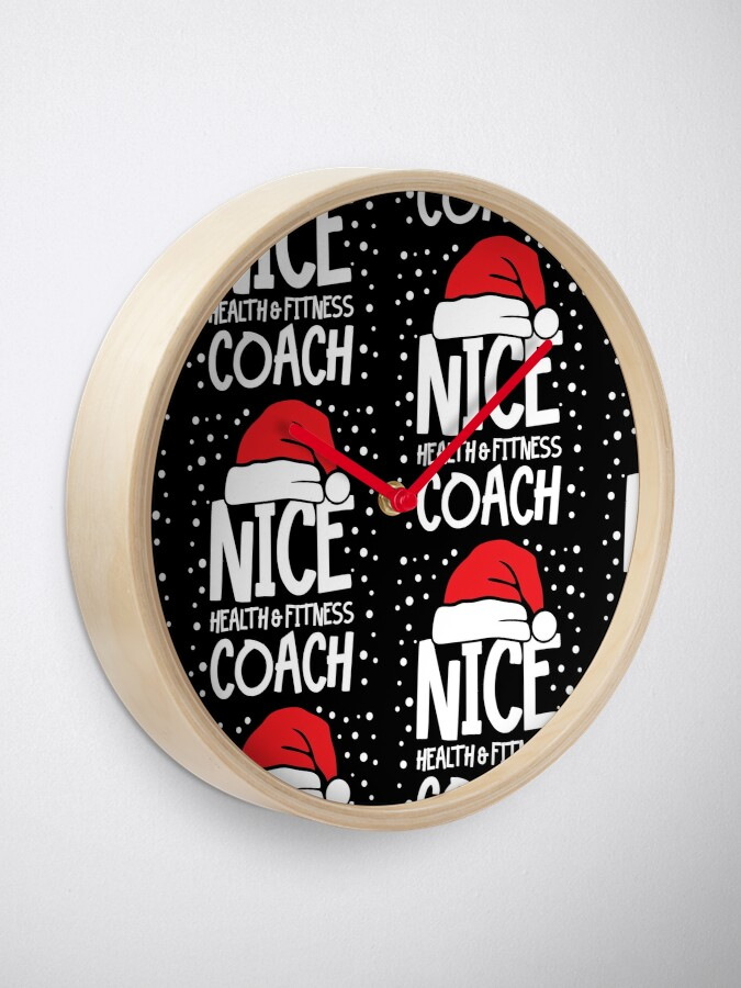 Alternate view of Nice Fitness Coach - Personal Trainer Christmas Gift Clock