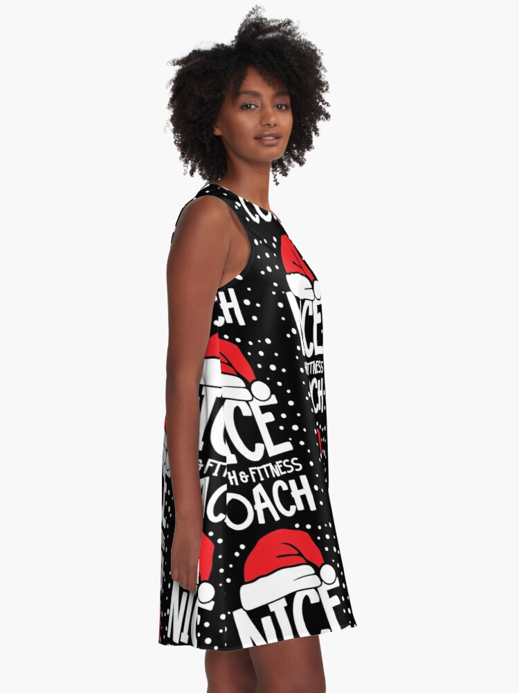 Alternate view of Nice Fitness Coach - Personal Trainer Christmas Gift A-Line Dress