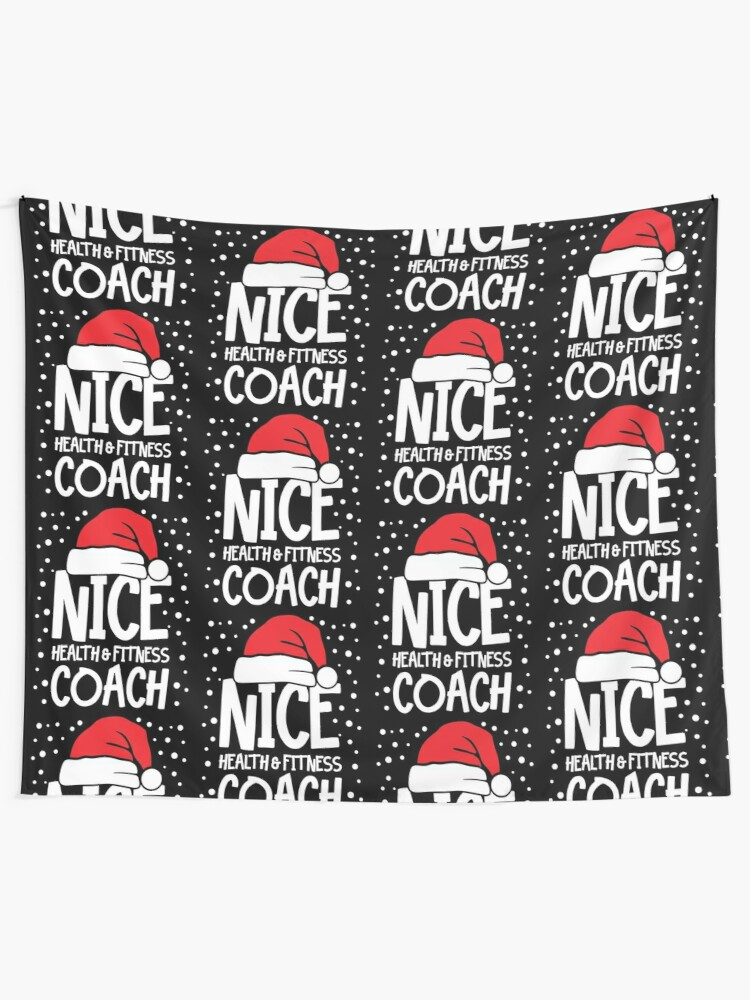 Alternate view of Nice Fitness Coach - Personal Trainer Christmas Gift Tapestry