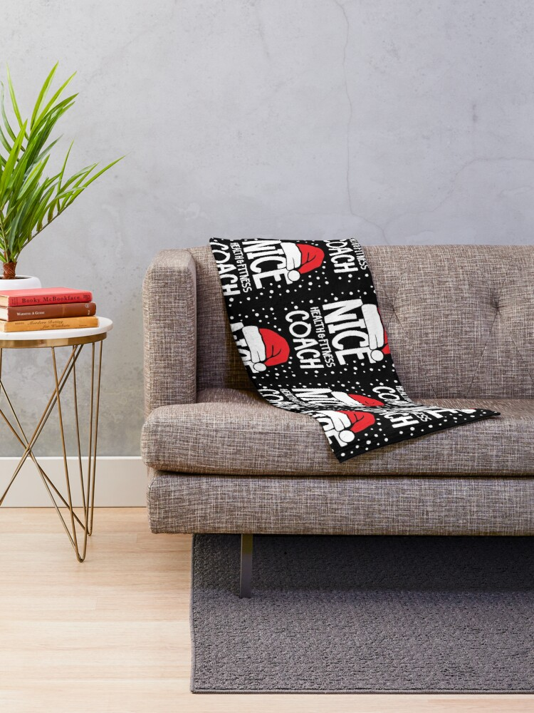 Alternate view of Nice Fitness Coach - Personal Trainer Christmas Gift Throw Blanket