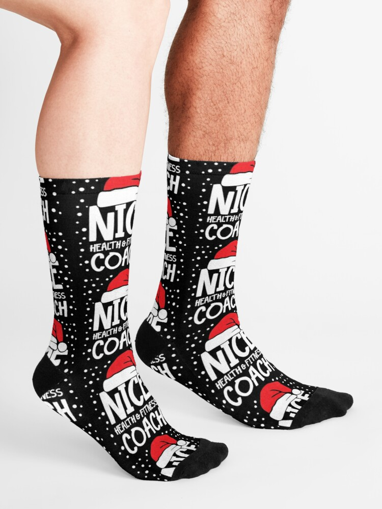 Alternate view of Nice Fitness Coach - Personal Trainer Christmas Gift Socks