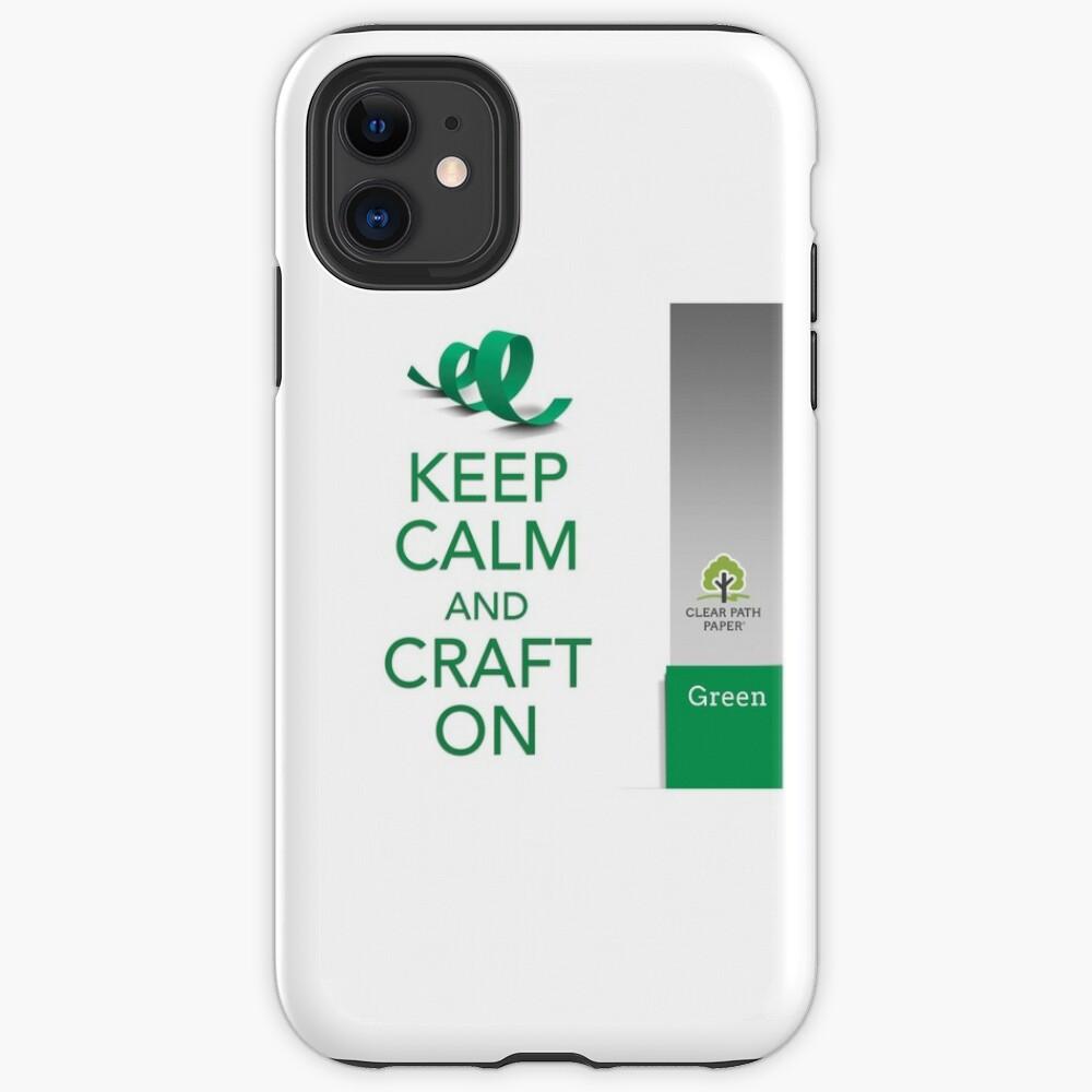 Keep Calm (Green) iPhone Case