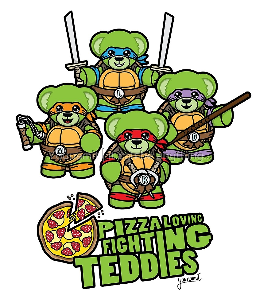 Pizza Loving Fighting Teddies - Logo by Younamit | it can be anything...