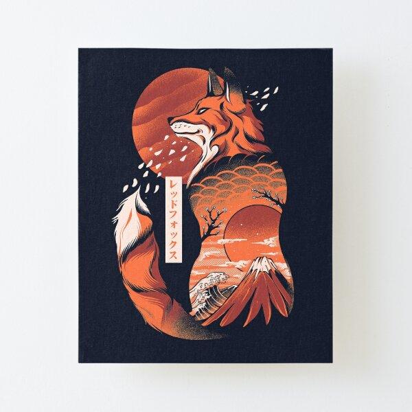 Japanese fox Canvas Mounted Print