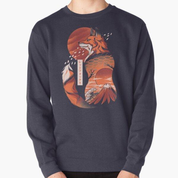 Japanese fox Pullover Sweatshirt