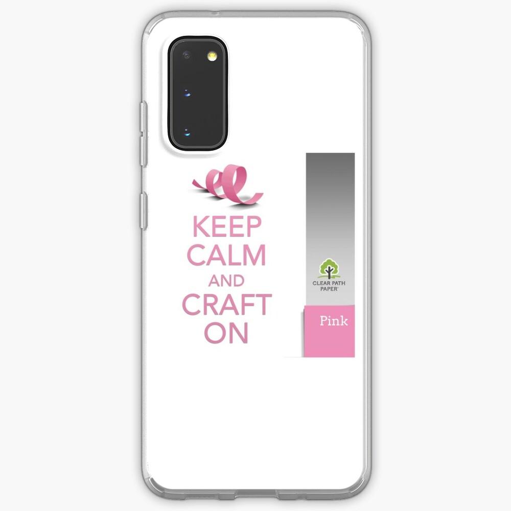 Keep Calm (Pink) Samsung Galaxy Phone Case