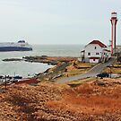 Nova Star Ferry Rounds Cape Forchu for the First Time by Debbie  Roberts