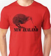 Neuseeland, Kiwivogel Slim Fit T-Shirt