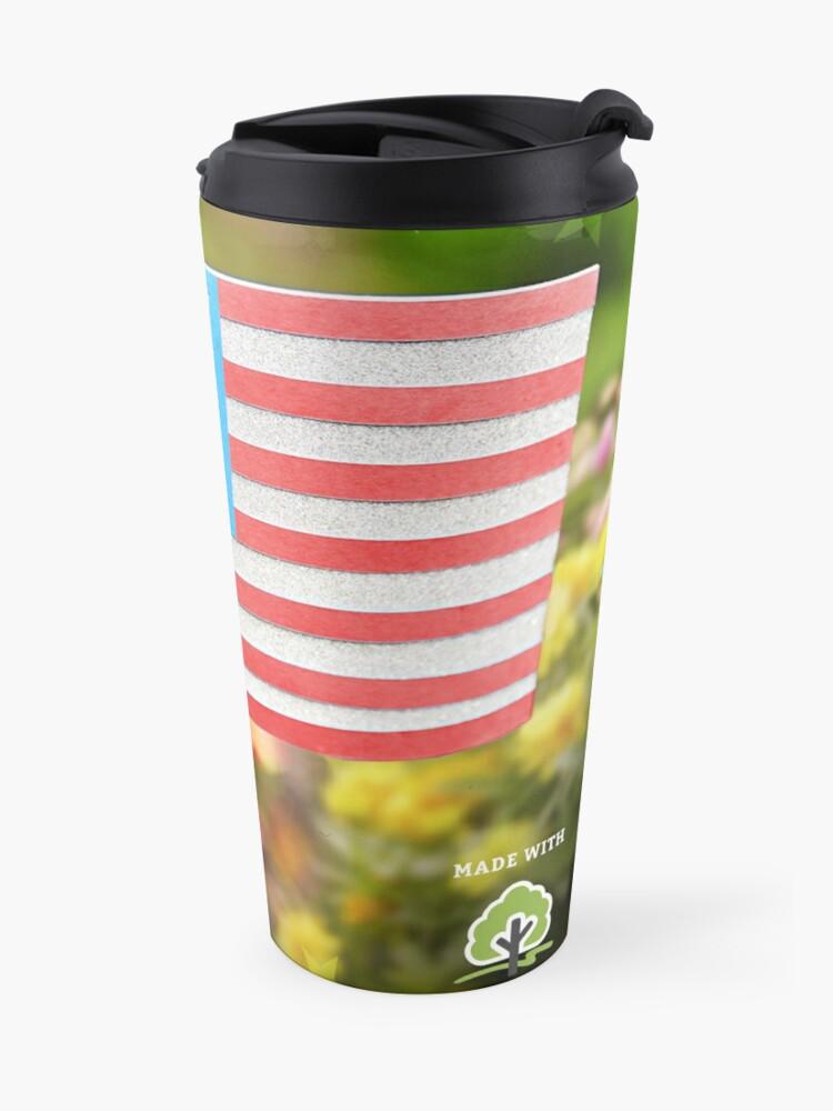 Alternate view of American Flag  Travel Mug