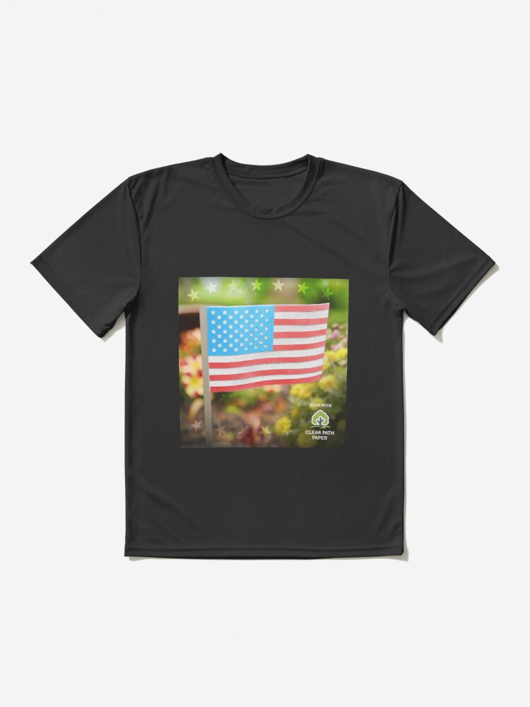 Alternate view of American Flag  Active T-Shirt