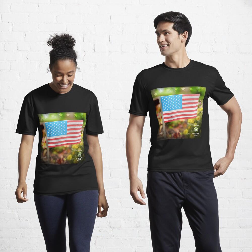 American Flag  Active T-Shirt