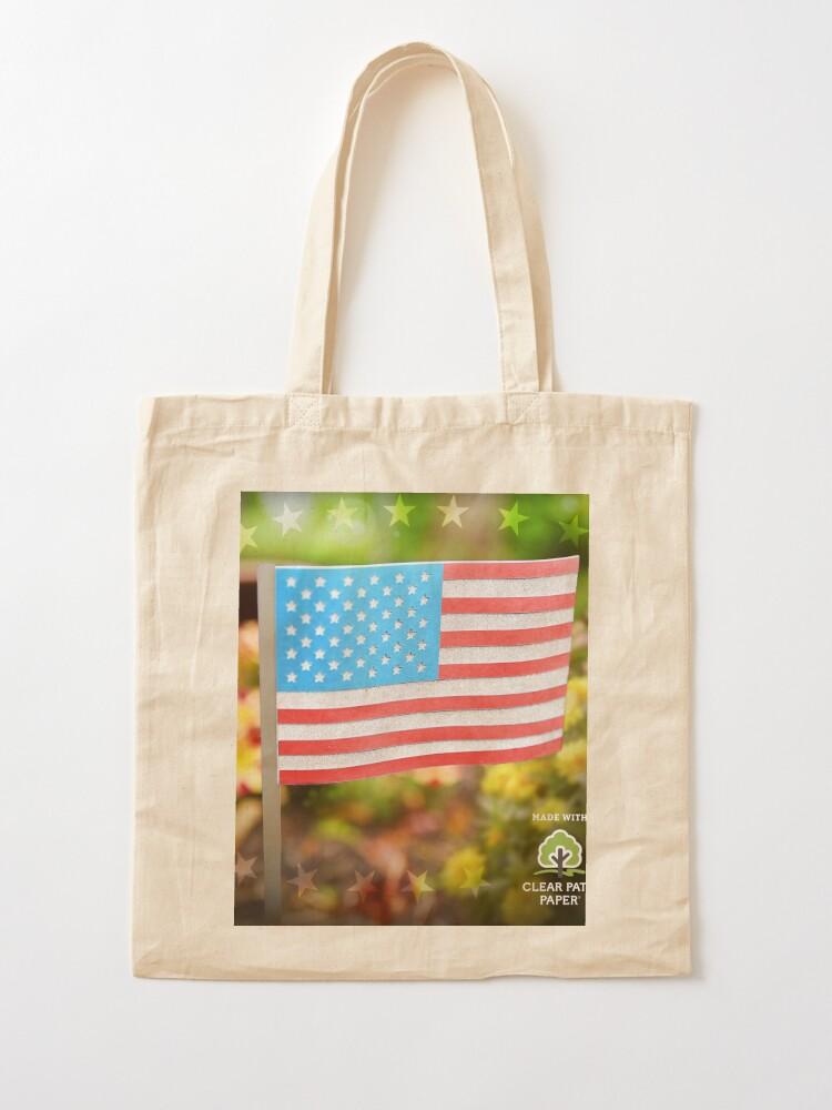 Alternate view of American Flag  Tote Bag