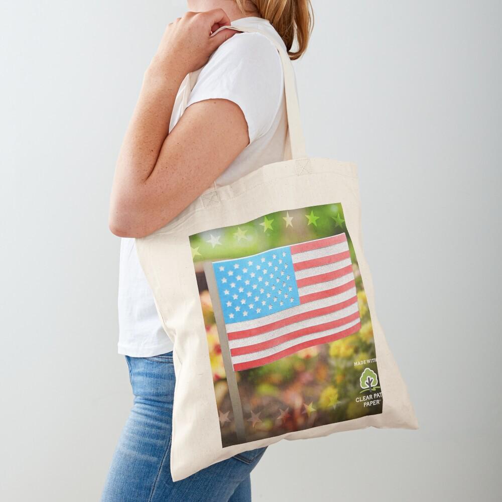 American Flag  Tote Bag