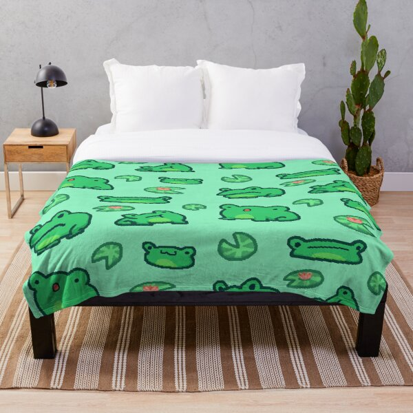 Just some frogs Throw Blanket