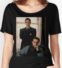 Camiseta ancha para mujer El Padrino - Al Pacino, Robert De Niro
