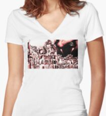 Red Planet Women's Fitted V-Neck T-Shirt