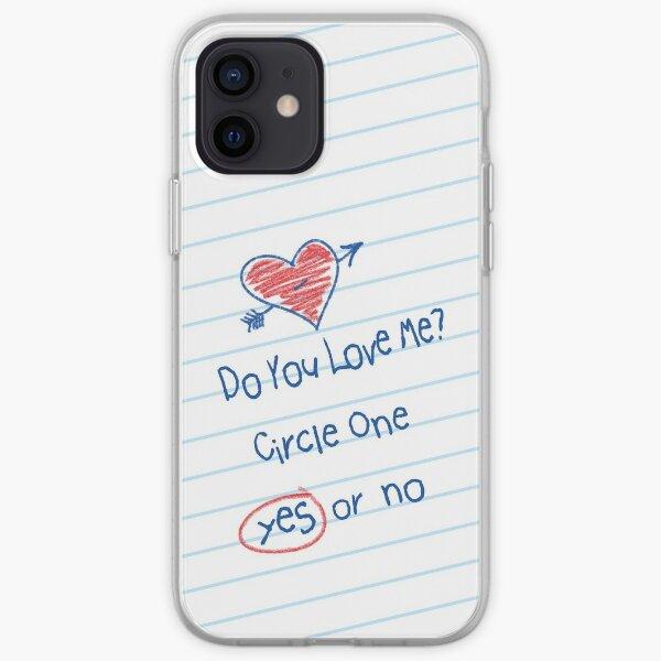 Flirty Grade School Do You Love Me Note iPhone Soft Case