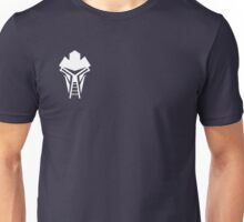 Cylon Mask Small Logo Unisex T-Shirt