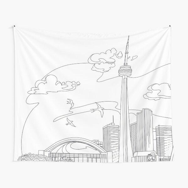 City Skyline Tapestry