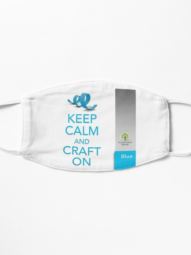 Alternate view of Keep Calm (Blue) Mask