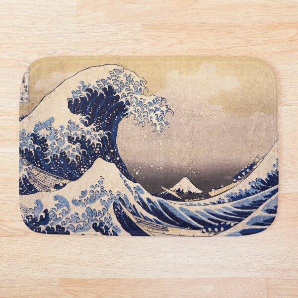 The Great Wave off Kanagawa by Katsushika Hokusai (c 1830-1833) Bath Mat
