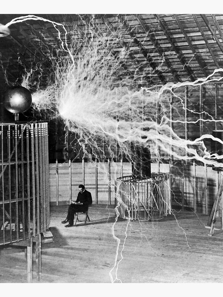 Nikola Tesla with his equipment (June 17, 1901) by allhistory