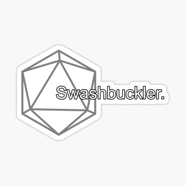 Simple Pathfinder Swashbuckler for Pathfinder2e or D&D Sticker