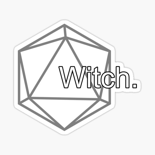 Simple Pathfinder Witch for Pathfinder2e or D&D Sticker