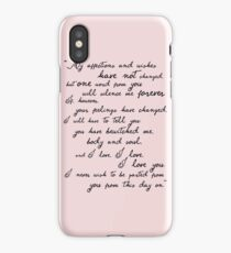 Pride and Prejudice, Darcy (black) Quote  iPhone Case/Skin