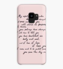 Pride and Prejudice, Darcy (black) Quote  Case/Skin for Samsung Galaxy