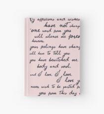Pride and Prejudice, Darcy (black) Quote  Hardcover Journal