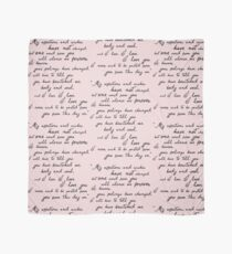 Pride and Prejudice, Darcy (black) Quote  Scarf