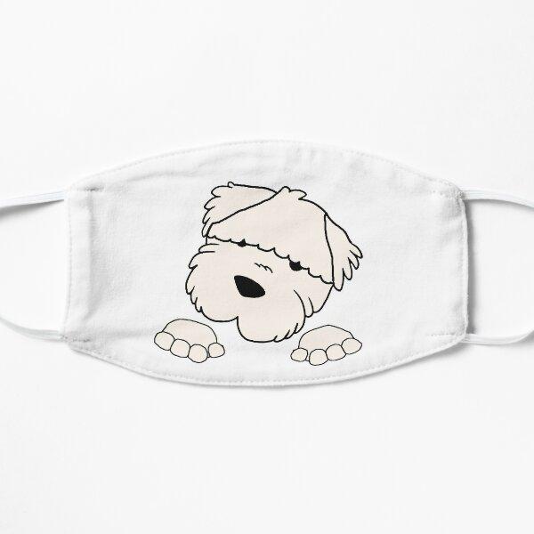 soft coated wheaten terrier peeking Mask
