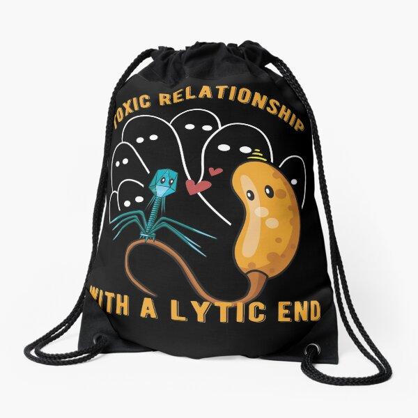 Microbiologist Biology Toxic Relationship Bacteria Lytic Drawstring Bag