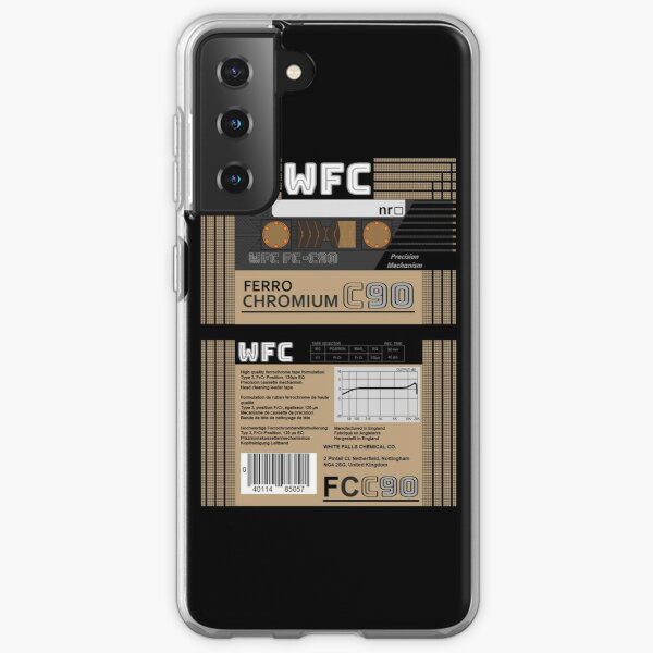 WFC Ferro Chromium C90 type 3 cassette (front and back) Samsung Galaxy Soft Case