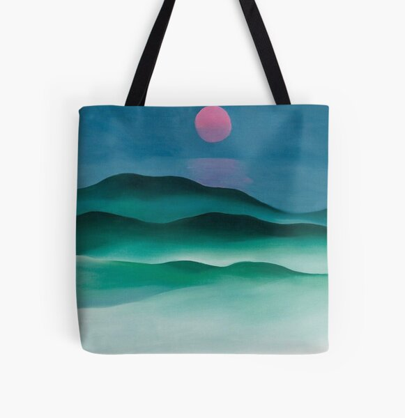 Pink Moon over Water (1924) by Georgia O'Keeffe All Over Print Tote Bag