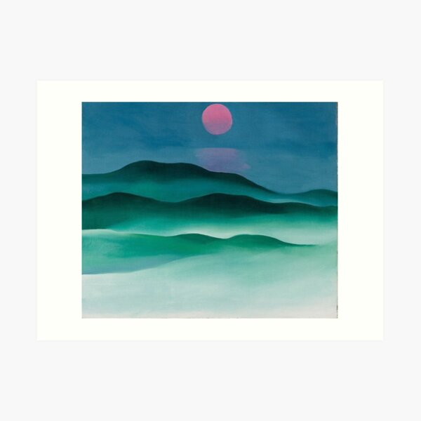 Pink Moon over Water (1924) by Georgia O'Keeffe Art Print