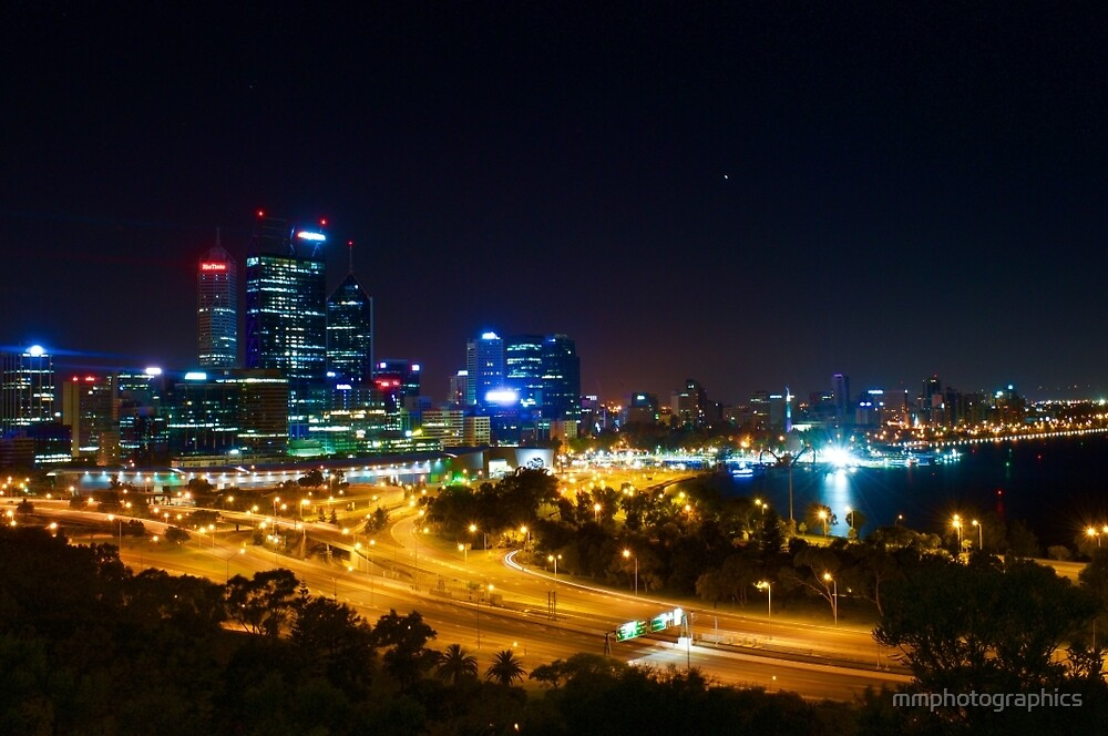 Perth City from Kings Park by mmphotographics