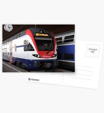 Swiss train Postcards