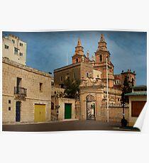 Mellieha Malta -- Lower Church Entrance (Sigma 1970 : 24mm Lens) Poster