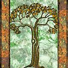 golden tree by KatDoodling
