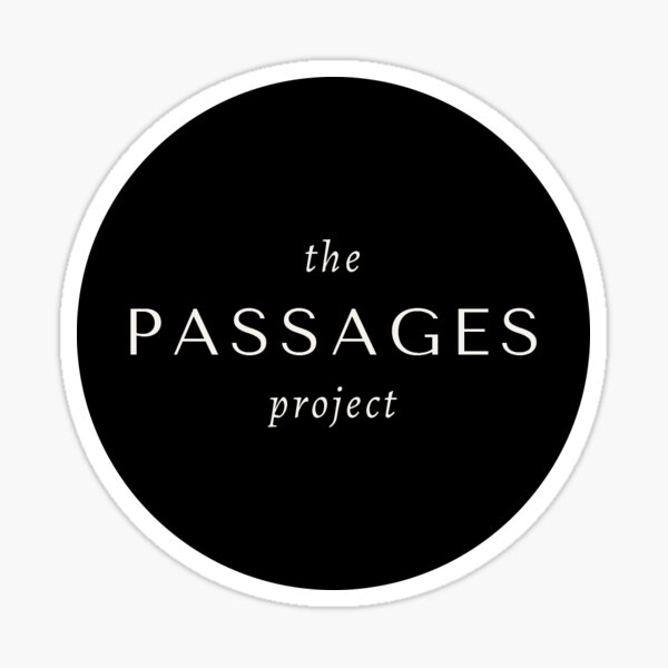 The Passages Project Circle Logo Sticker