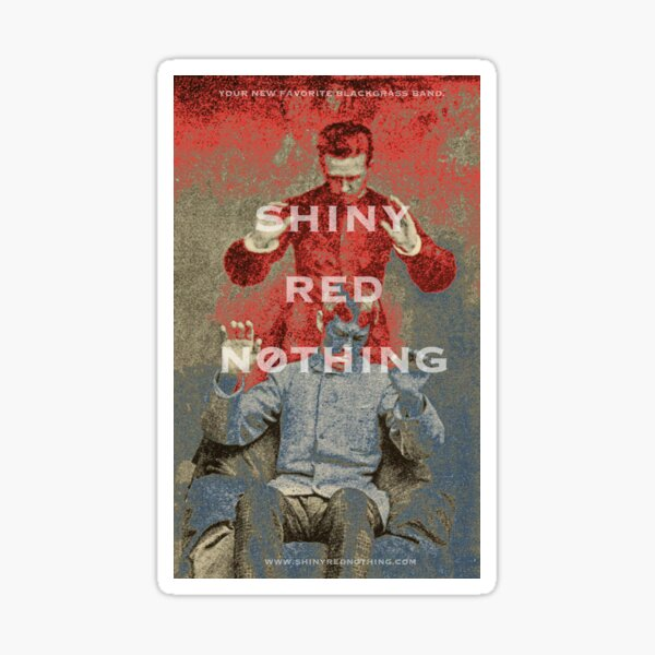 Shiny Red Nothing Band - Psychic Red, Psychic Blue Sticker