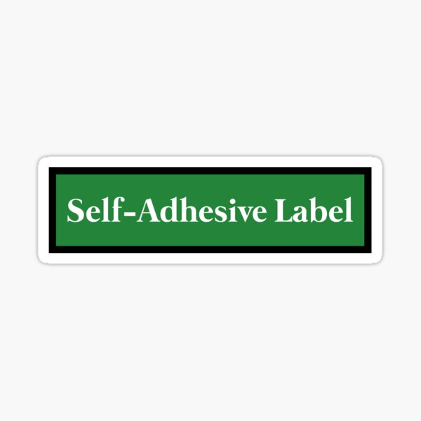 Self-Adhesive Label Sticker Sticker
