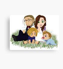 Fullmetal Alchemist Elric Family Chibi Canvas Print