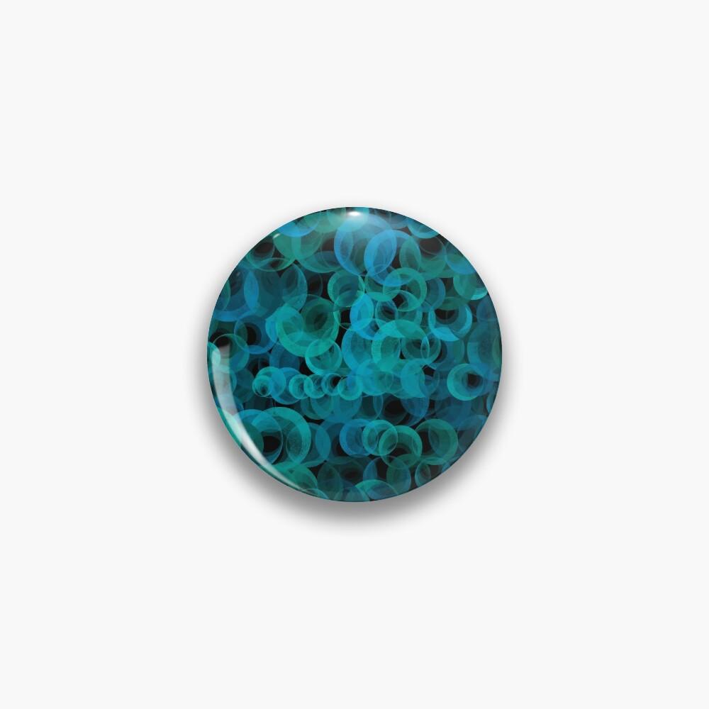 Disco Circles Blue Green Pin