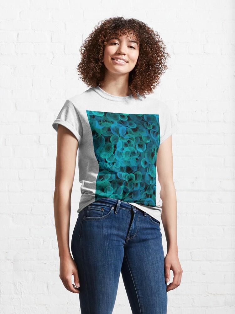 Alternate view of Disco Circles Blue Green Classic T-Shirt