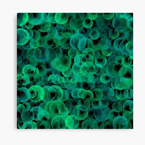 Disco Circles Green Canvas Print