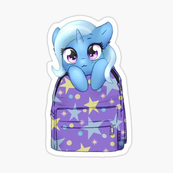 Trixie Bagpack Pony Sticker