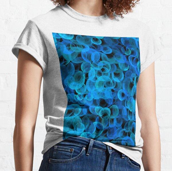 Disco Circles Blue Classic T-Shirt